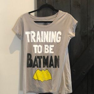 Training to be Batman Gray Short Sleeve Tee Shirt